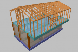 3D-wooden house